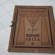 Coches y Motocicletas: HISPANO SUIZA CATALOGO RECAMBIOS OMNIBUS CAMION 30-40 CV DE 1.923. Lote 21838803