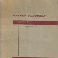 Coches y Motocicletas: MANUAL DE INSTRUCCIONES DEL TRACTOR MASSEY FERGUSON 35 . Lote 27252198