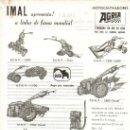 Coches y Motocicletas: FOLLETO PUBLICIDAD DISTRIBUIDOR IMAL DE TRACTORES MOTOCULTIVADORES AGRIA TRACTOR. Lote 56306370