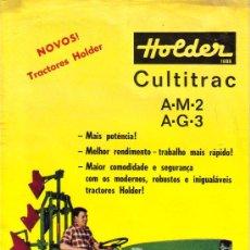 Coches y Motocicletas: FOLLETO DESPLEGABLE DE PUBLICIDAD Y CARACTERISTICAS TRACTOR HOLDER CULTITRAC A-M-2 A-G-3. Lote 27367399