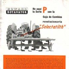 Coches y Motocicletas: FOLLETO DE PUBLICIDAD Y CARACTERÍSTICAS HOWARD ROTAVATOR PARA TRACTOR - AÑOS 60. Lote 27336086