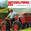 Coches y Motocicletas: FOLLETO DESPLEGABLE TIPO POSTER PUBLICIDAD Y CARACTERISTICAS DE TRACTOR SAME DELFINO 35. Lote 27367403