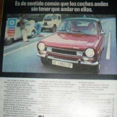 Coches y Motocicletas: PUBLICIDAD DEL SIMCA 1200, CHRYSLER. 3 ANUNCIOS.. Lote 22047356