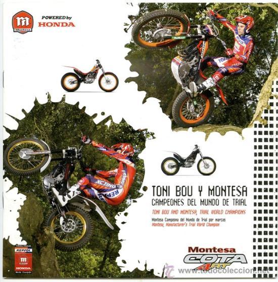 HONDA MONTESA COTA 4RT- CATALOGO PUBLICIDAD ORIGINAL - ESPAÑOL E INGLÉS