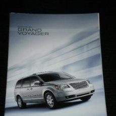 Carros e motociclos: CHRYSLER GRAND VOYAGER - CATALOGO PUBLICIDAD ORIGINAL - 2007 - ESPAÑOL. Lote 22393057