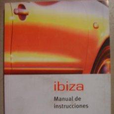 Coches y Motocicletas: MANUAL INSTRUCCIONES SEAT IBIZA 1986. Lote 22423670