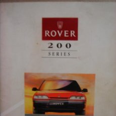 Coches y Motocicletas: MANUAL UTILIZACION CONDUCTOR ROVER 200 SERIES AUTOMOVIL. Lote 22423812
