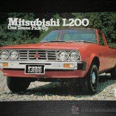 Coches y Motocicletas: MITSUBISHI L200 PICK UP - CATALOGO PUBLICIDAD ORIGINAL - INGLES. Lote 22463879