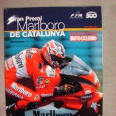 Coches y Motocicletas: PROGRAMA OFICIAL GRAN PREMIO DE CATALUÑA CATALUNYA 1999 DORNA MARLBORO. Lote 22848268