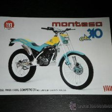 Coches y Motocicletas: MONTESA COTA 310 - CATALOGO FOLLETO PUBLICIDAD ORIGINAL - 1989 - ESPAÑOL / INGLES. Lote 22865260