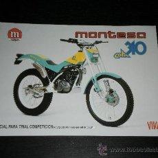 Coches y Motocicletas: MONTESA COTA 310 - CATALOGO FOLLETO PUBLICIDAD ORIGINAL - 1989 - ESPAÑOL / INGLES. Lote 22865474