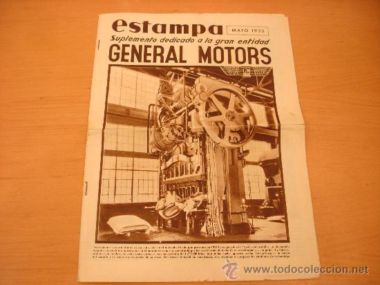 GENERAL MOTORS ESTAMPA MAYO 1935 CHEVROLET OPEL OLDSMOBILE (Coches y Motocicletas Antiguas y Clásicas - Catálogos, Publicidad y Libros de mecánica)
