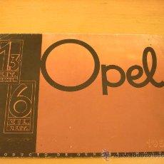 Coches y Motocicletas: OPEL CATALOGO ORIGINAL 1935 1.3 L Y 2 L.. Lote 22903177