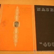 Coches y Motocicletas: NASH 400 ABADAL CATALOGO ORIGINAL AÑOS 30. Lote 22947686