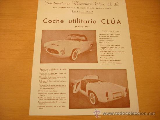 CLUA CATALOGO COCHE UTILITARIO EPOCA BISCUTER MICROCOCHE (Coches y Motocicletas Antiguas y Clásicas - Catálogos, Publicidad y Libros de mecánica)