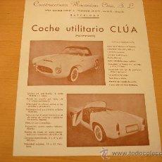 Coches y Motocicletas: CLUA CATALOGO COCHE UTILITARIO EPOCA BISCUTER MICROCOCHE. Lote 22947938