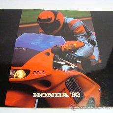 Coches y Motocicletas: CATALOGO HONDA MOTOS 1992.EN ESPAÑOL.INCLUYE MONTESA.. Lote 27097497