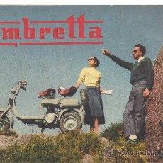 Coches y Motocicletas: LAMBRETTA CATALOGO TRIPTICO..... Lote 195118921