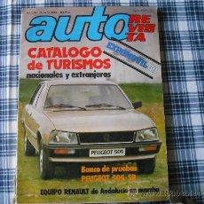 Coches y Motocicletas: CATALOGO AUTO REVISTA 1980. Lote 29743407