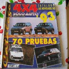 Coches y Motocicletas: CATALOGO SOLO AUTO 4X4 PRUEBAS 93. Lote 27587481