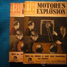 Coches y Motocicletas: L.A. DUPIN: - CURSO DE MOTORES DE EXPLOSIÓN - (2 TOMOS) (BUENOS AIRES, 1947). Lote 27007422