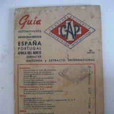 Coches y Motocicletas: GUIA AUTOMOVOLISTA DE ASISTENCIA DE URGENCIA CAP, PARA ESPAÑA, PORTUGAL, AFRICA DE NORTE...AÑOS 50 . Lote 23592462