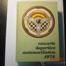 Coches y Motocicletas: ANUARIO DEPORTIVO AUTOMOVILISTICO - AÑO 1976. Lote 26898993