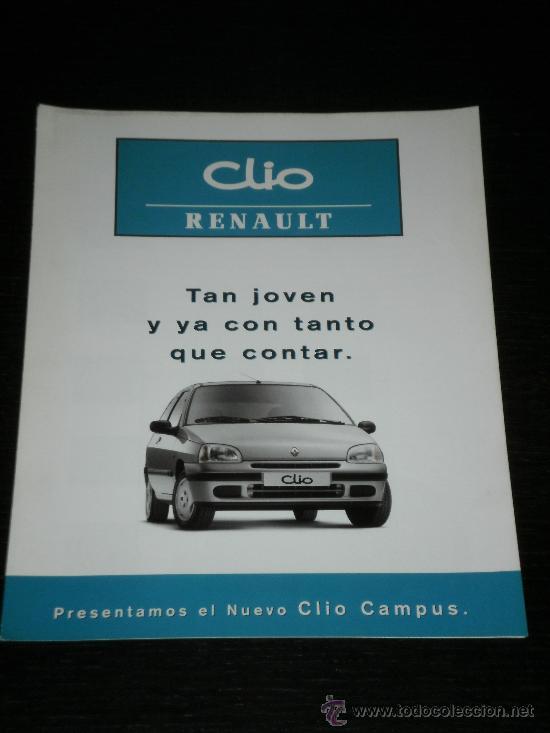 RENAULT CLIO CAMPUS - CATALOGO PUBLICIDAD ORIGINAL - 1997 - ESPAÑOL (Coches y Motocicletas Antiguas y Clásicas - Catálogos, Publicidad y Libros de mecánica)