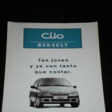Coches y Motocicletas: RENAULT CLIO CAMPUS - CATALOGO PUBLICIDAD ORIGINAL - 1997 - ESPAÑOL. Lote 24281134