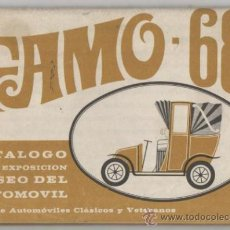 Coches y Motocicletas: FAMO 1968 CATÁLOGO EXPOSICIÓN MUSEO DEL AUTOMÓVIL .CLUB DE AUTOMOVILES CLASICOS Y VETERANOS. Lote 26141374