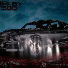 Coches y Motocicletas: POSTER SHELY MUSTANG GT500 - 50X40 - NUEVO. Lote 41370340