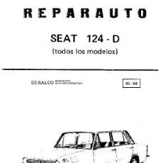 Coches y Motocicletas: MANUAL DE TALLER DEL SEAT 124-D. Lote 25016758