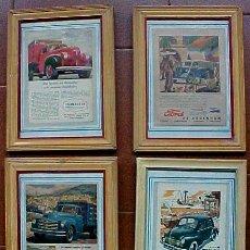 Coches y Motocicletas: COCHES ANTIGUOS CARTELES PUBLICITARIOS. Lote 27140401