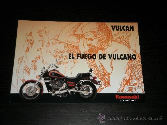 KAWASAKI VULCAN 500 800 1500 - CATALOGO PUBLICIDAD ORIGINAL - ESPAÑOL (Coches y Motocicletas Antiguas y Clásicas - Catálogos, Publicidad y Libros de mecánica)