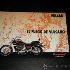 Coches y Motocicletas: KAWASAKI VULCAN 500 800 1500 - CATALOGO PUBLICIDAD ORIGINAL - ESPAÑOL. Lote 26034087