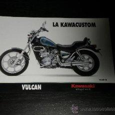 Coches y Motocicletas: KAWASAKI VULCAN 500 750 - CATALOGO PUBLICIDAD ORIGINAL - 1993 - ESPAÑOL. Lote 26034148