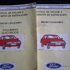 Coches y Motocicletas: FORD ESCORT AÑO 82-GUIA DE TASACIONES- MANUAL DE TALLER- 2 TOMOS. Lote 26363775