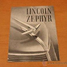 Coches y Motocicletas: LINCOLN ZEPHIR FORD MOTOR IBERICA CATALOGO ORIGINAL. Lote 26641998