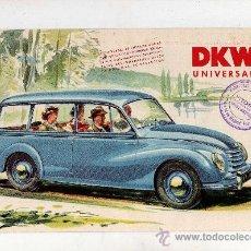 Coches y Motocicletas: CATALOGO DKW UNIVERSAL AUTO UNION - MUY ILUSTRADO, 8 PAG, 27 X 17'5 CM, . Lote 27173115
