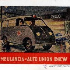 Coches y Motocicletas: CATALOGO DKW AMBULANCIA AUTO UNION DKW, ILUSTRADO 4 PAG, . Lote 27173149