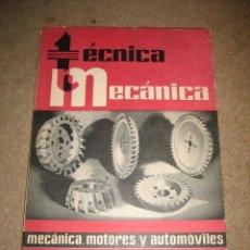 Coches y Motocicletas: TECNICA MECANICA REVISTA Nº 18........JULIO 1960. Lote 27216874
