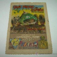 Coches y Motocicletas: GRAN PREMIO DE ESPAÑA....CIRCUITO DE PEDRALBES....1951. Lote 27405637