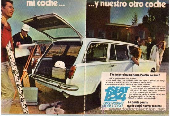 PUBLICIDAD ANTIGUA. COCHES. SEAT 124. 1969. (Coches y Motocicletas Antiguas y Clásicas - Catálogos, Publicidad y Libros de mecánica)
