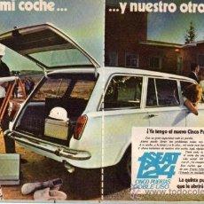 Coches y Motocicletas: PUBLICIDAD ANTIGUA. COCHES. SEAT 124. 1969.. Lote 27822509