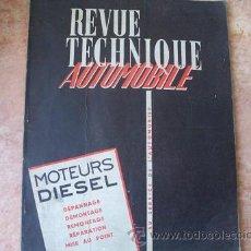 Coches y Motocicletas: REVUE REVISTA TECHNIQUE AUTOMIBILE,Nº ESPECIAL,MOTOR DIESEL,Nº 161 BIS,SEPTBRE 1959,72 PAGS.,FRANCES. Lote 27839575