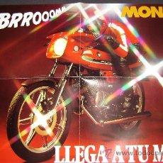 Coches y Motocicletas: PRECIOSO POSTER PUBLICIDAD PUCH MONZA.CATALOGO AL REVERSO 0.60 X 0.42. Lote 27933688