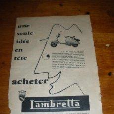 Coches y Motocicletas: PUBLICIDAD DE LAMBRETTA.. Lote 28073062