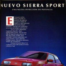Coches y Motocicletas: PUBLICIDAD PRENSA 1985 - FORD SIERRA SPORT - AUTOMOVIL COCHE. Lote 28137715