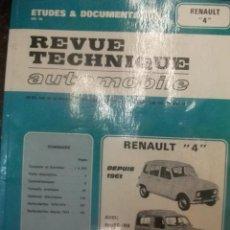 Coches y Motocicletas: RENAULT 4 MANUAL DE TALLER. ESTA EN FRANCÉS. 173 PAGINAS. MUCHOS ESQUEMAS.. Lote 28275354