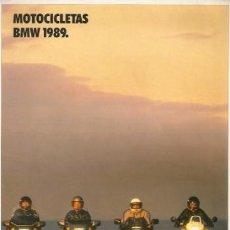 Coches y Motocicletas: CATÁLOGO MOTOCICLETAS BMW 1989. Lote 28300116